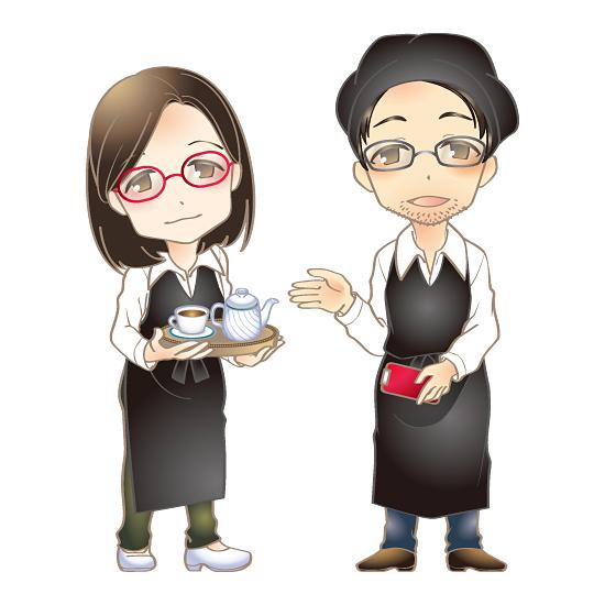 コーヒーハウス羅苧豆 似顔絵キャラ